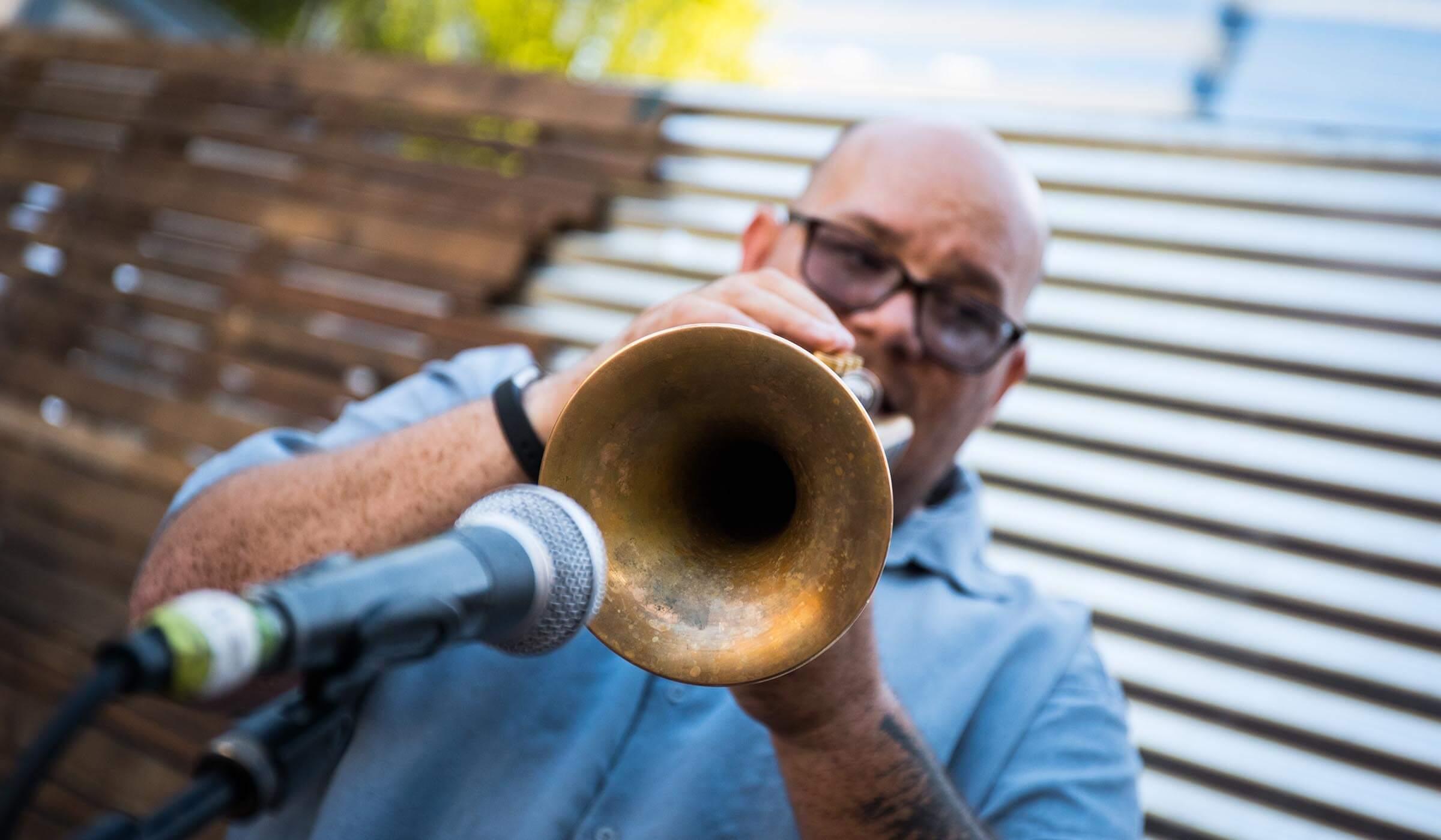la victoria 100 year celebration event trumpet player
