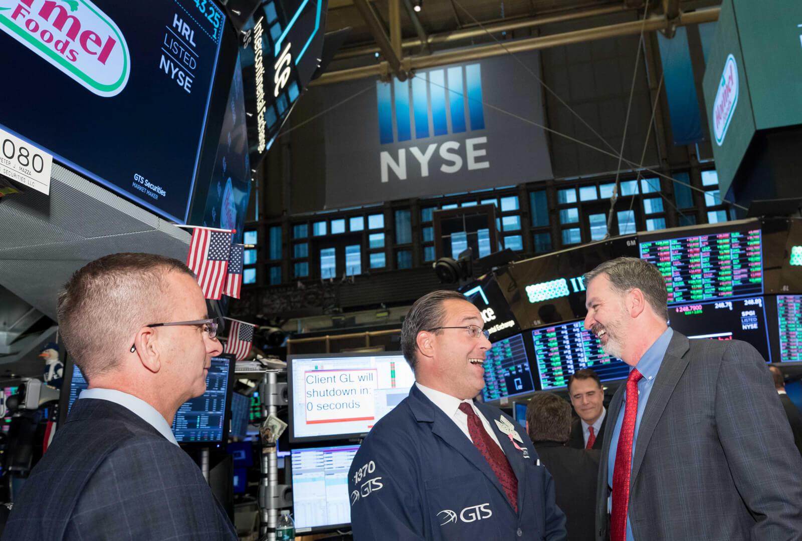 Jim Snee at NYSE