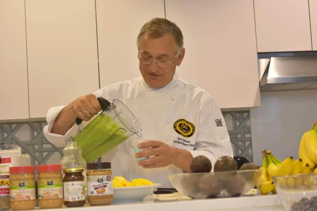 Master Chef Ron DeSantis taste tests a smoothie