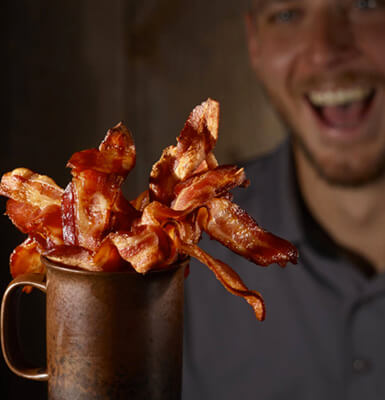 Cup of bacon